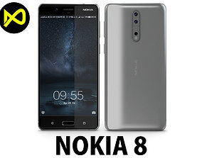 Nokia 8 Steel 2017 3D