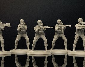 3D printable model Soldiers Figure With Gasmask Set 5