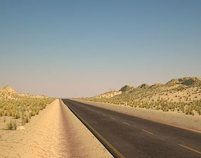 3D model Desert road 3d
