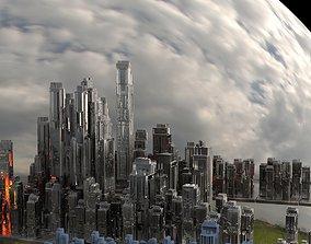 Sci Fi Towers City 3D model