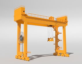 Gantry Crane RTG 3D model
