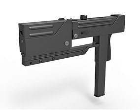 Submachine gun modified MAC-11 from the movie 3D model 1