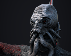 3D Unrigged Mind Flayer Character - PBR Textures