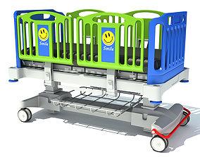 Medical Hospital Bed 3D