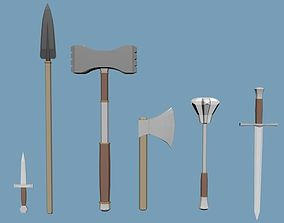 Low Poly Weapons Pack 3D model