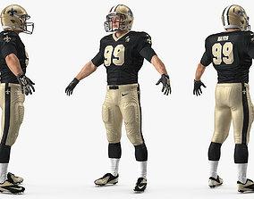 New Orleans Saints American Football Player 3D
