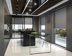 3D Modern Kitchen dining-table