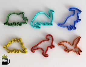 Molde cortante de galletas fondant de Dinosaurios 1