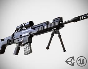 3D model FN SCAR - H SV - Sniper Rifle - Highly Detailed -
