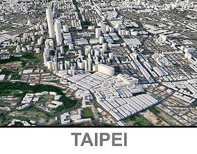 3D asset game-ready Taipei Capital of Taiwan