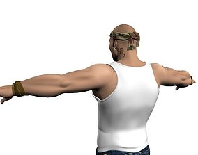 3D model Male Muscular character