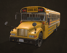 3D model VR / AR ready School Bus