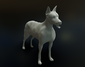 3D print model doberman dog