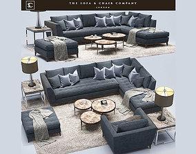 Barbican CORNER SOFA Cavus The sofa and chair 3D model