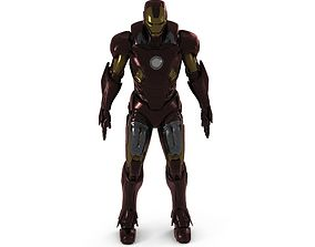 Iron Man Rigged Animated 3D model