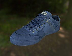 VR / AR ready Sneaker shoe low poly 3D model