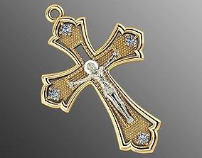 3D print model symbol Pendant od 6 cross