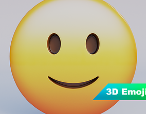 game-ready Slightly Smiling Face 3D Emoji