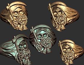 Death Skull Reaper Ring 3D print model