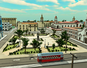 Colonial City Pack 3D asset