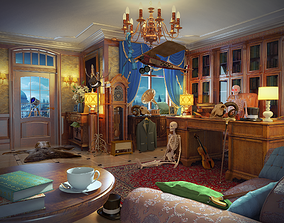 3D model Cabinet Hidden Object Game Location