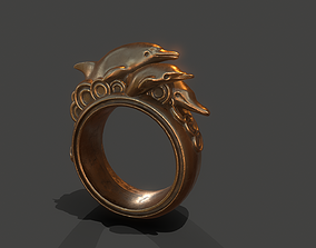 3D printable model Dolphins ring