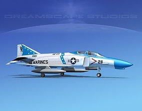 McDonnell Douglas F-4J Phantom II V15 USMC 3D model