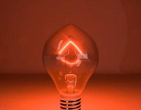 Tungsten lamp model-3 3D