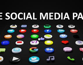 3D model THE SOCIAL MEDIA PACK