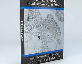 3D model Halifax Road Network and Streets halifax
