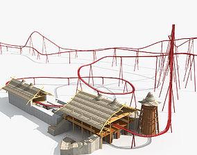 3D model Roller Coaster 04