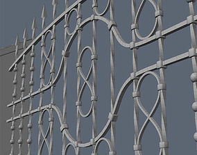 3D gates Fence for exterior visualization
