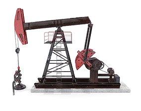 Oil Pumpjack Animated 2 3D model