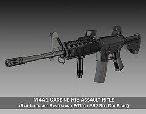 3D model Colt M4A1 Sopmod EOTech552