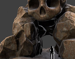 mountain 3D Skull Cave