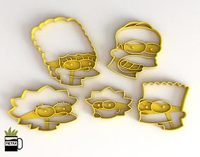Molde cortante de galletas fondant de Los Simpsons 2