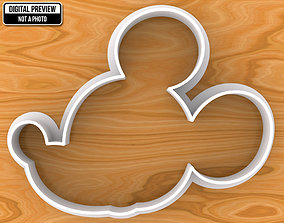 dining Mickey Mouse Cookie Cutter 3D printable model