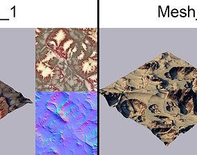3D model hill Terrain alien