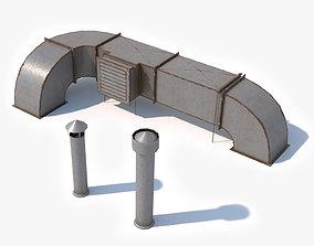 3D asset Air Ventilation Duct 2 Low Poly