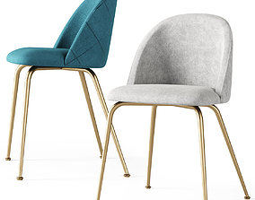 POLLY velvet dining chair 3D asset VR / AR ready