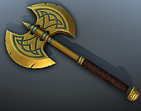3D model Fantasy Axe - low poly