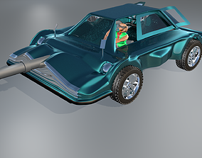 3d Game Car Model Style Six game-ready