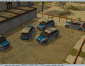 game-ready Hyundai I30 Polish police 3d car model