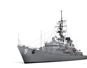 3D model DDG 19 USS Tattnall