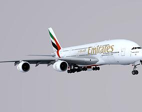 3D model Airbus A380 Emirates