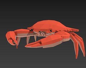 low poly crab 3D asset