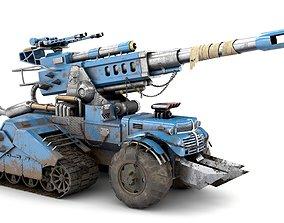 Futuristic Military Vehicle 3D asset