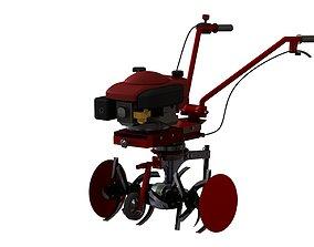 Handler diesel cultivator 3D model