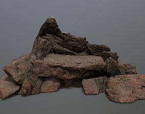 rocks mountain stone 3D model realtime