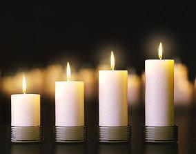 Candles set 3D model